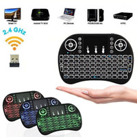 Hot Mini Rii i8 Teclado Inalámbrico 2.4G Inglés Air Mouse Teclado Control Remoto Panel Táctil para Smart Android TV Box Notebook Tablet