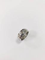 Новые Оптовая дешевая цена Высокое качество широкой формы V Мужские кольцо размером 7/8 цветное письмо из нержавеющей стали для мужчин женщин