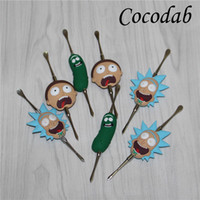 Funny rick head Wax dabber tools wax atomizer silver color 1...