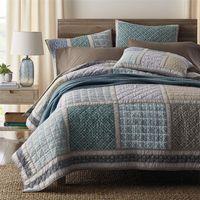 Baumwoll-Steppdecken-Bettdecke, handgefertigt von amerikanischer Bettdecke Dreiteilige Bettwäsche Außenhandel, original 3-tlg