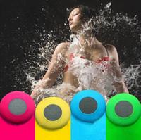 Resistente al agua Mini Altavoz Bluetooth 5 colores portátil Ducha subwoofer inalámbrico con aspiran Manos libres Altavoces artículos de la novedad OOA6646-1