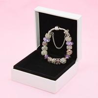 Tempérament breloque papillon pour l'argent Pandora plaqué dames de bricolage de perles bracelet de haute qualité avec la boîte originale Livraison gratuite
