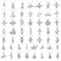 Las jaulas de collar de perlas de agua dulce de la astilla de granos pendientes del Locket 3 * 2.5mm de la joyería DIY del collar del encanto manera de los colgantes