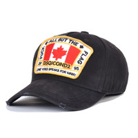 2020 قبعات الموضة مصمم رجالي Casquette التطريز فاخرة للتعديل قبعة DSQICOND2 وراء خطابات D2 غطاء الفاخرة