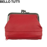 BELLO TUTTI 100% Genuine Leather Coin Purse Mini Women Small...