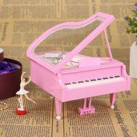 Yaratıcı Dans Kız Piyano Ev Dekorasyon Müzik Kutusu Döner Bale Müzik Kutusu Sevgililer Günü Hediye Ev Dekorasyon Rüzgar-up