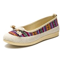 Casual Canvas Women Flat Espadrilles Shoes Slip On Loafers L...