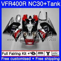 Kit para HONDA RVF400R VFR400 NC30 V4 VFR400R 89 90 91 92 93 269HM.2 Rojo de fábrica RVF VFR 400 R VFR 400R 1989 1990 1991 1992 1993 Carenado