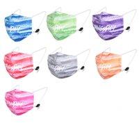 3 tabakalı toz maskeler Çizgi Baskı Anti-toz toz önleyici pus Yıkanabilir değiştirilebilir filtre Yüz FASK XD23452 maske