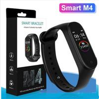 سوار 2020 NEW M4 الذكية فرقة للياقة البدنية المقتفي ووتش الرياضة ووتش معدل ضربات القلب الذكية فيتبيت Smartband مراقب الصحة الاسورة ميل الفرقة 4