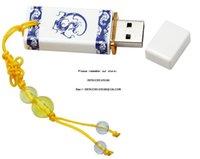 Retro Çin Porselen Plastik USB Flash Sürücü 32g Seramik Hediye Kalem Sürücü 4 GB 8 GB 16 GB 32 GB 64 GB 128 GB Pendrive USB Stick Flash Disk Çince