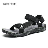 Summer Men Sandals flat Upstream Shoes Male Camouflage Casual Beach Shoes Walking Flip Flops Gladiator Sandals  Walker Peak