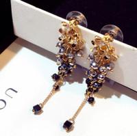 designer jewelry flowers beaded earrings crystal colorful handmade earrings tassel earrings for women simple hot fashion