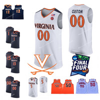 Benutzerdefinierte Virginia Cavaliers Basketball 2019 Final Four # 5 Kyle Guy 11 Ty Jerome 12 De'Andre Hunter 0 Kihei Clark Beliebiger Name Jersey