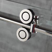 ABD 6.6FT Sürme ahır duş kapı ikiz merdane çerçevesiz cam sürgülü parça donanım seti kiti popüler