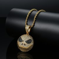 Bling bling Hip Hop Creepy emoji fan Pendant Copper Micro pa...