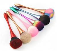 Lüks Tek Yüz Pudra Makyaj Fırça İnce Bel Gül Altın Vakıf Fırçalar Tam Renkli Saç Kapatıcı Kozmetik Fırçalar