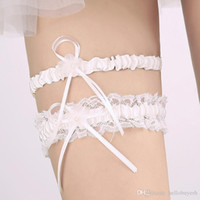 New Style Light Blue Bridal Garters High Quality Pearl Ribbo...