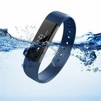 ID115 pulsera inteligente Fitness Tracker reloj inteligente paso contador actividad deportes Monitor vibración reloj inteligente para iPhone Android