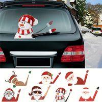 2019 Accessori New Car Natale auto Decorazione Sticker fai da te del parabrezza dell'automobile Babbo Natale Carino Vetrofanie auto Wiper Sticker