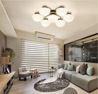 современные возглавляемые люстры для гостиной спальни столовой комнаты стекла железо тела дома во главу большого люстру потолок люстры лампы светильник