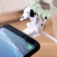 Portátil engraçado Tipo-C / Android Cabo USB Mini Humping Spot Dog Toy Carregador Linha de dados compatível para telefone Micro-USB