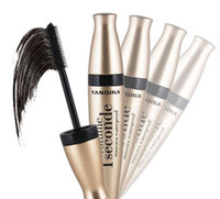 3D Mascara multi-fonctionnelle imperméable à l'eau liquide à fibres longues Lashes Black Eye Cils Curling Mascara brosse Extension de maquillage