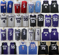 Men de Aaron Fox Jersey Basketball Marvin Bagley III Jason Williams Chris Webber Edition gagnée Ville Respirant Noir Violet Blanc