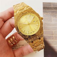 Hot Exquisite Luxury Mens Watch Fashion Iced Out Trend Water...