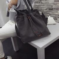 2019 Qualità Le donne di tela caldo di vendita di alta borse a spalla con coulisse borsa della benna del messaggero del Tote Bags Purse Satchel Fashion
