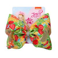 Jojo Siwa horquilla serie de frutas Bobby Pin niño niña broche para la cabeza encantadora Headwears múltiples estilos de poliéster cinta popular 6jf C1