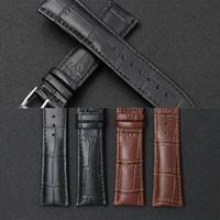 De alta qualidade Moda Couro Assista bracelete 12 14 16 18 milímetros 20 milímetros 22 24 Substituição intercambiáveis Watch Band Preto Brown Waterproof