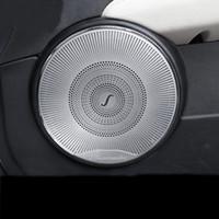 Car Styling Haut-parleur de voiture Garniture de porte de voiture haut-parleur Autocollant pr Mercedes Benz classe C W204 C180 C200 2008-2014 Accessoires