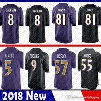 Limited 8 Lamar Jackson Baltimore Jersey Ravens 5 Joe Flacco 9 Justin Tucker  18 Perriman 32 Eric Weddle 55 Terrell Suggs 57 C.J. Mosley e56168a5c