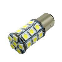 10PCS 1157 BAY15D 자동차 6000K 27-SMD 5050 LED 테일 턴 신호 조명 램프 전구 Xenon White