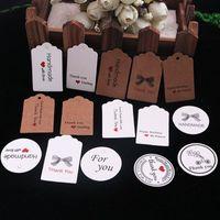 100 pcs de Papel Kraft Encantador Presente Etiquetas Diy Etiquetas de Preços Feitos À Mão Sacos De Cozimento De Embalagem Rótulos Para Flor Cosméticos Jóias Garrafa de Bebida