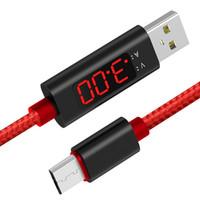 전송 LCD 화면 라인 USB 타입 C 전압 전류 표시 1m 테스터 데이터 케이블 안전 나일론 지능형 미터 고속 충전