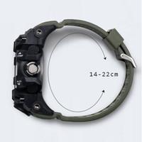 2020 Erkek Saatler Altın Smael Marka İzle S Şok Dijital Saatler Alarm TimeKeeper 1545 Spor İzle Çift Zaman Saati Erkekler Militar