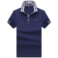 2018 degli uomini di polo mens camicia manica corta Camicie solidi Camisa Polo Masculina cotone casual Plus Size 7XL 8XL 10XL Marca supera i T C19041501