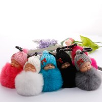 Doll hair ball key chain bag car cartoon plush doll pendant ...