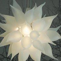 Branco Fosco Branco Lâmpadas de Vidro Lâmpadas Lâmpadas Luz do Art Deco Lâmpadas Lâmpadas Luzes Pingente Itália Casa Decoração Lâmpada da Sala de Visitas