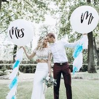 36inch MR MRS Balloons Big Just Married Latex Champagne Infl...