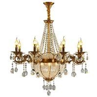 Роскошная Церковь Crystal Candle Люстры Промышленное золото Сфера Srystal Люстры Люстра Освещение Для отеля Villa Art Подвесные лампы Свет
