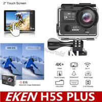 네이티브 4K 30 / EIS EKEN H5S 플러스 울트라 HD 액션 카메라 터치 스크린 720P / 200FPS 30M 방수 GO 헬멧 프로 스포츠 캠