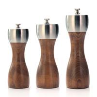 Prémio madeira de faia Pepper Mill - Precision aço carbono Rotor Use para Peppercorn Sea Salt Black Pepper and Mais Ferramentas da cozinha