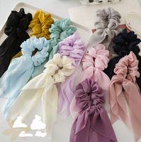 Дети Scrunchie моды новых девочек шифон лента хвостик держатель дети смычки кисточка аксессуар для волос женского головных повязок 11colors A1715