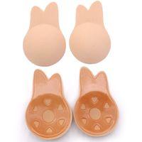 322499204 Wholesale nipple cover for sale - Women Push Up Bra Rabbit Ears Self  Adhesive Bra Silicone