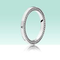 Klassisches Design Frauen-Männer 925 Sterlingsilber-Ring Original Box-Set für Pandora Markenzeichen CZ-Diamant-Schmuck Ringe Set