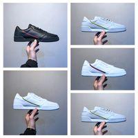 adidas Originals Continental 80 Continental 80 kanye west calabasas powerphase homens mulheres correndo sheos Triplo preto branco Sapatos tênis 36-45