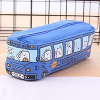 Creative New Animal School Bus Stationery Canvas Pencil Case...